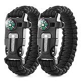 X-Plore Gear Emergency Paracord Bracelets | Set of 2| The...