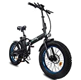 ECOTRIC Electric Foldable Fat Tire Bike 500W Motor 20' 4.0 inch...