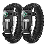 X-Plore Gear Emergency Paracord Bracelets   Set of 2  The...