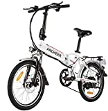 ANCHEER Folding Electric Bike Ebike, 20'' Electric Bicycle with...