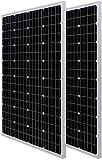 HQST 100 Watt 12 Volt Monocrystalline Solar Panel with Solar...