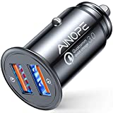 AINOPE USB Car Charger, [Dual QC3.0 Port] 36W/6A [All Metal] Fast...