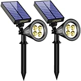URPOWER Solar Lights 2-in-1 Solar Powered 4 LED Adjustable...