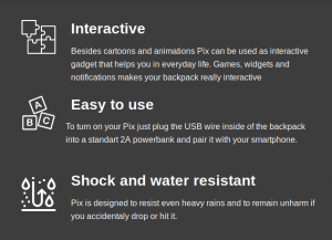 Pix Backpack Features