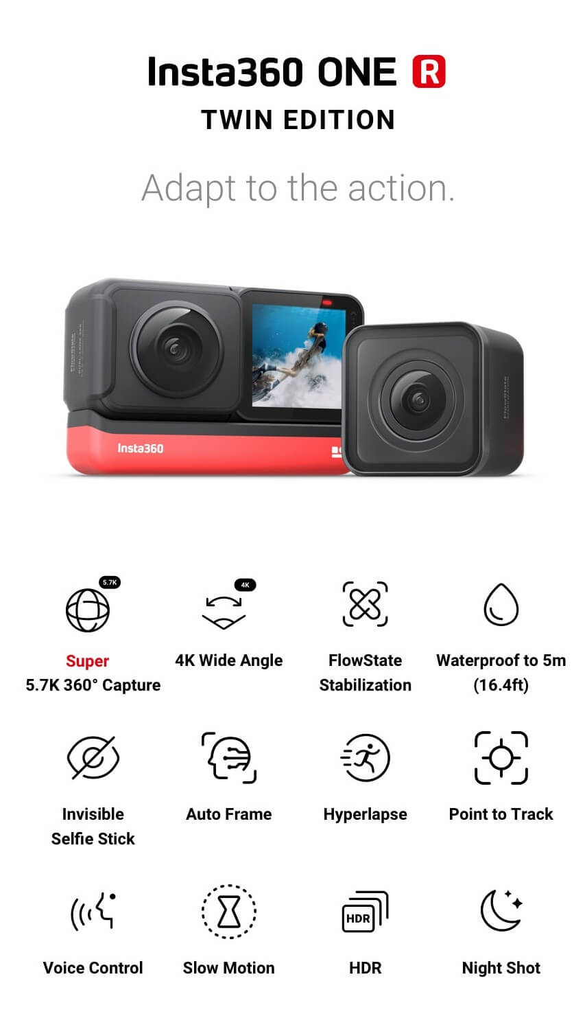 one r action cam features
