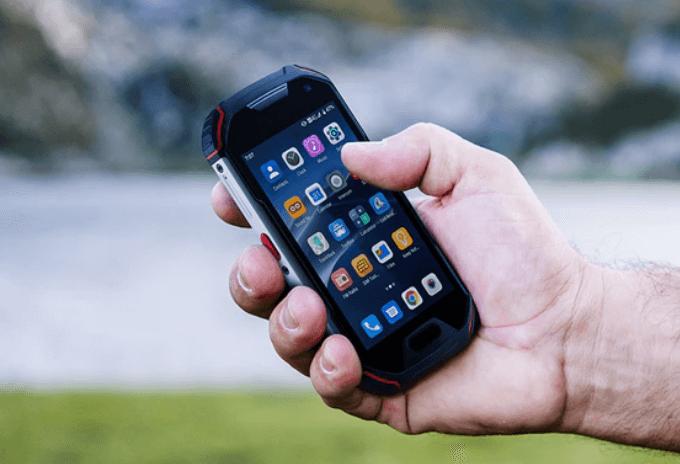 atom xl rugged phone with walkie talkie