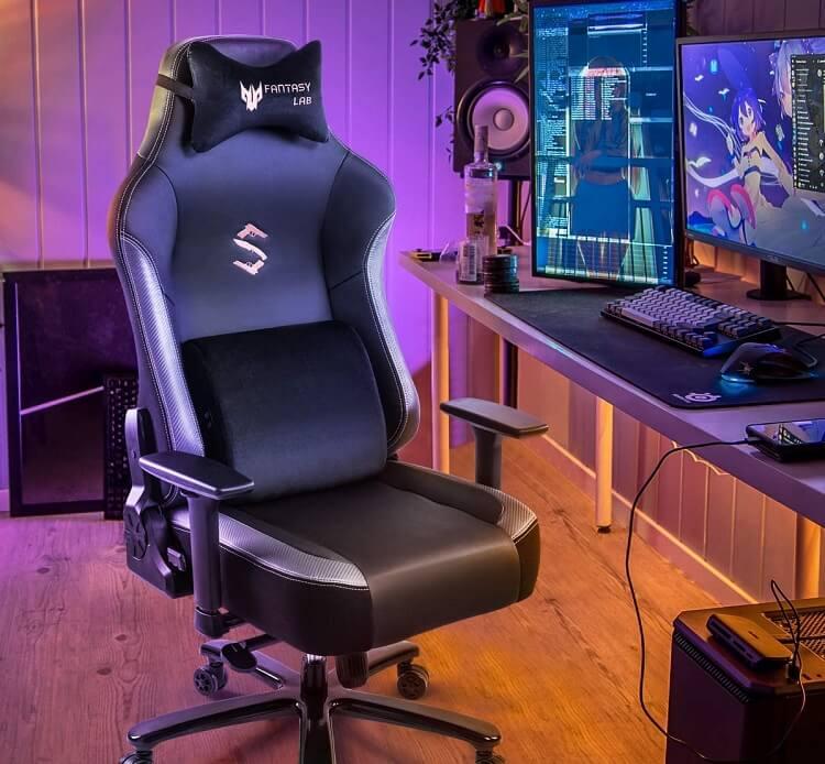 FANTASYLAB Memory Foam Gaming Chair