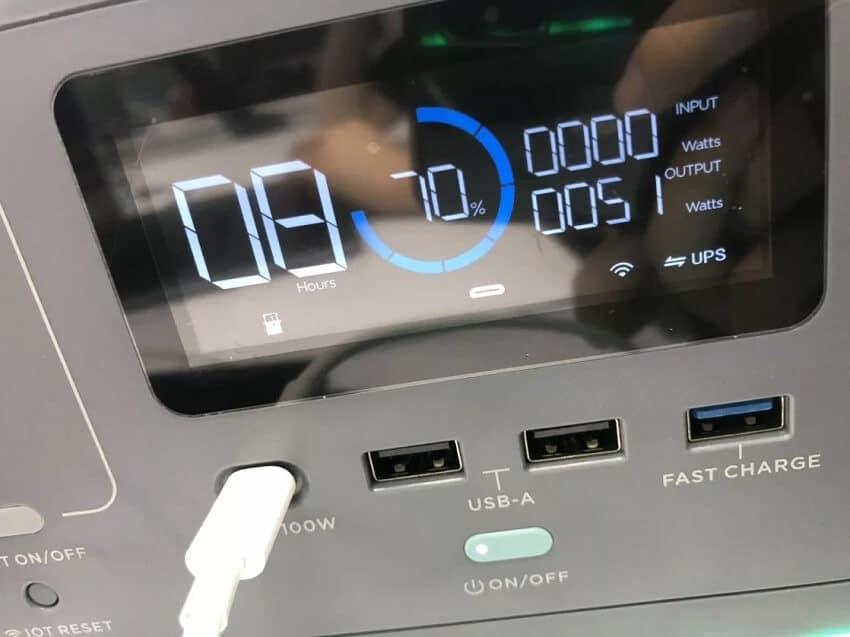 ecoflow R600 display
