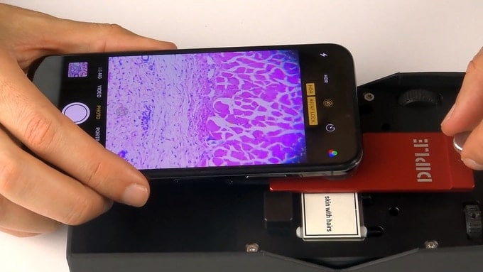 DIple microscope for smartphones