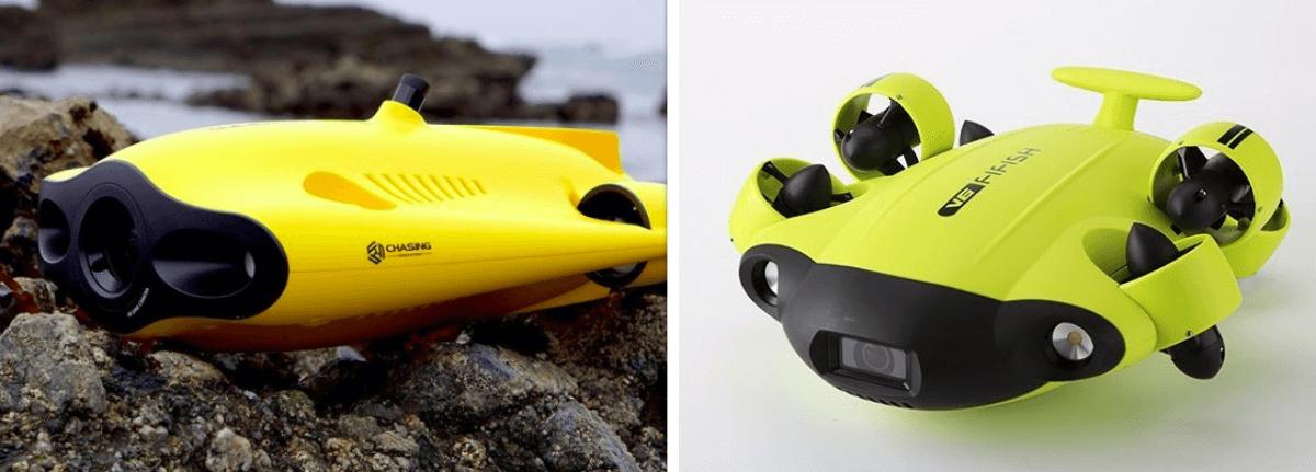 GladiusMini vs FiFishV6 Underwater Drone
