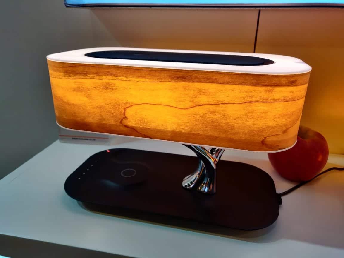 Image of: Tree Of Light A Cool Modern Desk Lamp With Bt Speaker